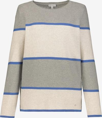 Gina Laura GINA LAURA Damen Pullover, reine Baumwolle 727040 in blau / grau, Produktansicht