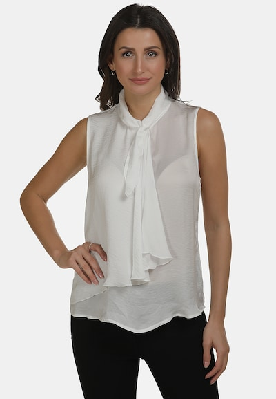 usha WHITE LABEL Blusentop in weiß, Modelansicht