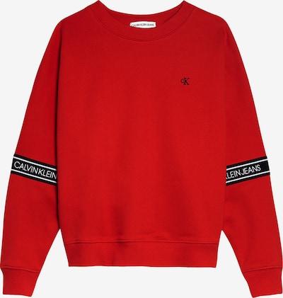 Calvin Klein Jeans Sweatshirt in blutrot: Frontalansicht