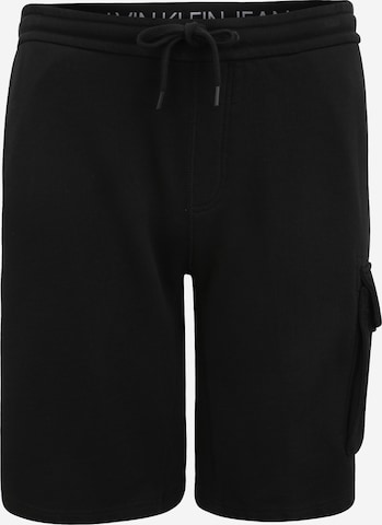 Pantalon cargo Calvin Klein Jeans Plus en noir