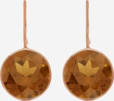 Gemshine Ohrringe in braun / rosegold, Produktansicht