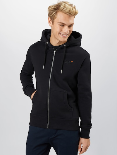 Superdry Sweatjacke  'OL CLASSIC ZIPHOOD NS' in marine: Frontalansicht