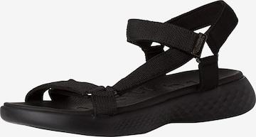 TAMARIS Sandały w kolorze czarny