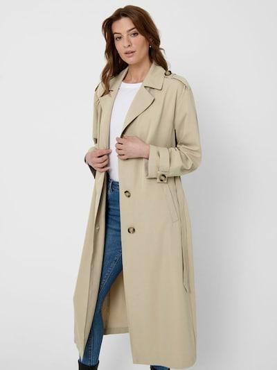 ONLY Between-seasons coat 'Line' in beige, View model