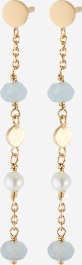 Pernille Corydon Jewellery Pendientes 'Afterglow Sea' en azul oscuro / oro / blanco perla, Vista del producto