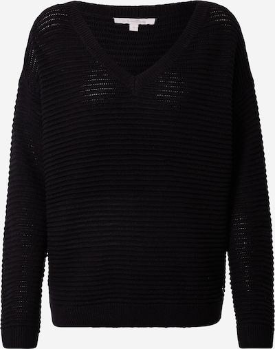 TOM TAILOR DENIM Pullover & Strickjacken Pullover mit Ottoman Struktur in schwarz, Produktansicht