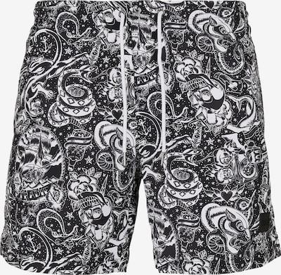 Urban Classics Plavecké šortky - černá / bílá, Produkt