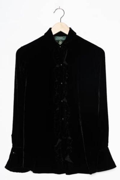 RALPH LAUREN Bluse in L in schwarz, Produktansicht