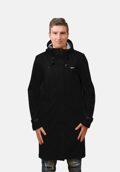 Dingy Rhythm Of The Rain Regenmantel 'BRUCE' in schwarz, Modelansicht
