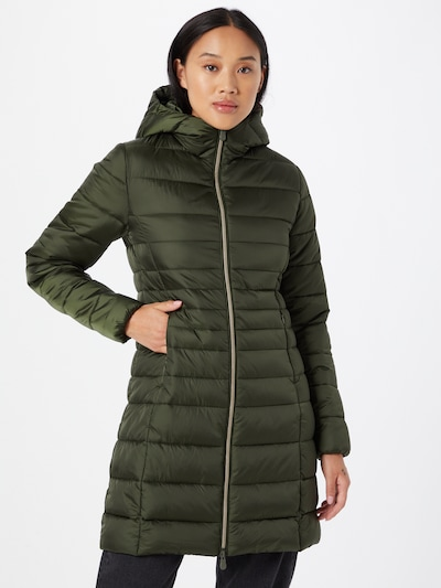 SAVE THE DUCK Mantel 'CAMILLE' in dunkelgrün, Modelansicht
