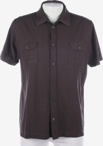 HUGO BOSS Freizeithemd / Shirt / Polohemd langarm in XXL in Braun