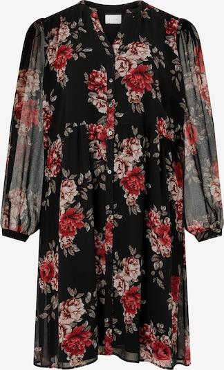 Vila Curve Robe-chemise 'Amione' en vert pastel / rose ancienne / rouge / noir, Vue avec produit