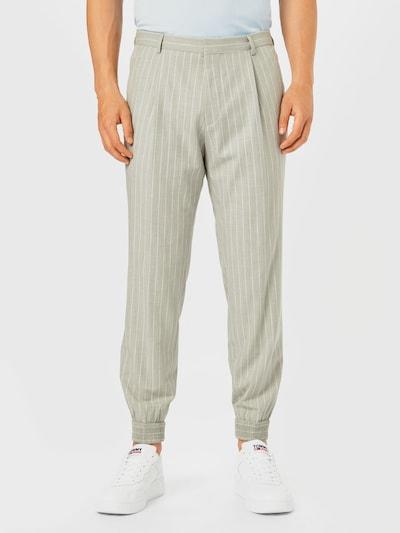 HUGO Plisované nohavice 'Fento' - sivá / biela, Model/-ka