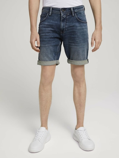 TOM TAILOR DENIM Shorts in dunkelblau, Modelansicht