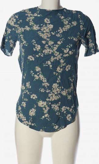 For H&M Kurzarm-Bluse in XS in blau / weiß, Produktansicht