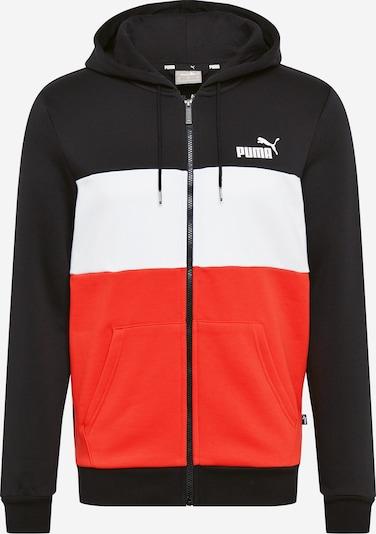 PUMA Sportiska tipa jaka gaiši sarkans / melns / balts, Preces skats