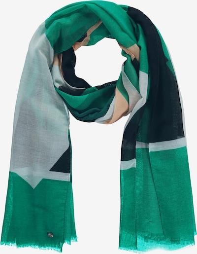 SAMOON Schal in beige / grün / schwarz / weiß, Produktansicht