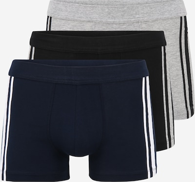 Boxeri SCHIESSER pe bleumarin / gri amestecat / negru / alb, Vizualizare produs