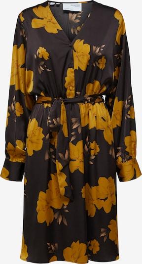 SELECTED FEMME Kleid 'Vira Vienna' in senf / schwarz, Produktansicht