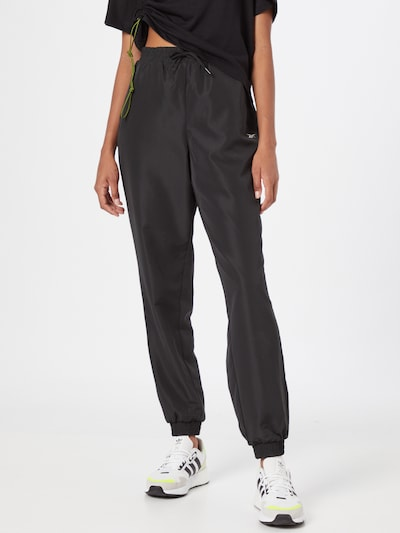 Pantaloni sport Reebok Sport pe negru / alb, Vizualizare model