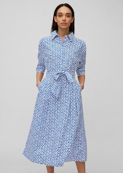 Marc O'Polo Blusenkleid in blau / weiß, Modelansicht