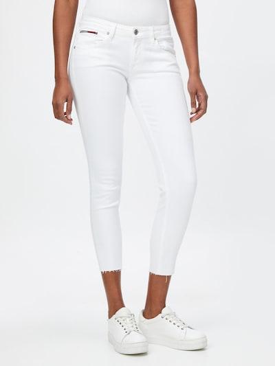 Tommy Jeans Pantalon 'SCARLETT' en blanc, Vue avec modèle