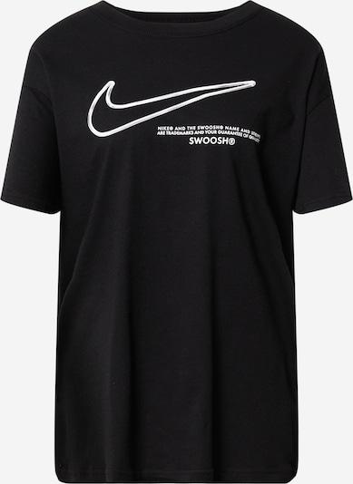 Tricou 'Swoosh' Nike Sportswear pe negru / alb, Vizualizare produs