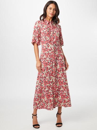 SOAKED IN LUXURY Košilové šaty 'Indiana' - béžová / fuchsiová / grenadina / černá, Model/ka