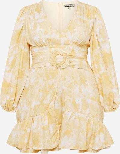 Missguided Plus Kleid in goldgelb / weiß, Produktansicht