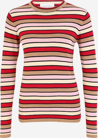 SISTERS POINT Sweater 'HOTTI' in Brown / Pink / Red / Black / White, Item view