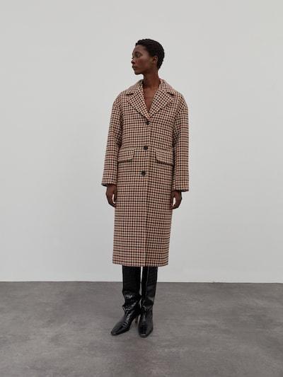 EDITED Χειμερινό παλτό 'Alexa' σε καμηλό / κόκκινο / μαύρο, Άποψη μοντέλου