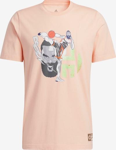 ADIDAS PERFORMANCE T-Shirt 'Harden Geek Up Kick' in grau / pfirsich, Produktansicht