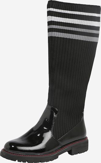 JANA Botas en gris claro / negro / blanco, Vista del producto