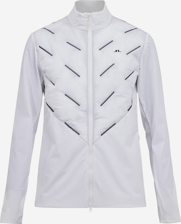 J.Lindeberg Athletic Jacket 'Shield Hybrid' in White