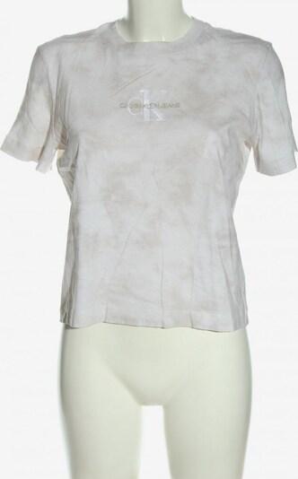 Calvin Klein Jeans Print-Shirt in M in hellgrau / wollweiß, Produktansicht