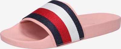 TOMMY HILFIGER Pantoletter i natblå / lys pink / rød / hvid, Produktvisning