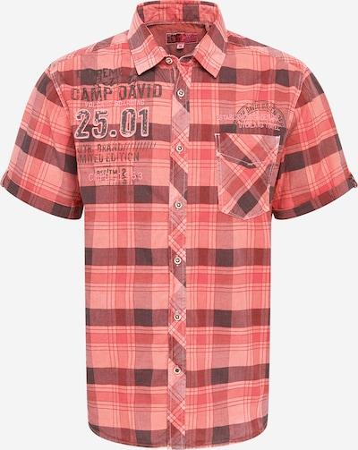 CAMP DAVID Skjorta i ljusröd / mörkröd / svart, Produktvy
