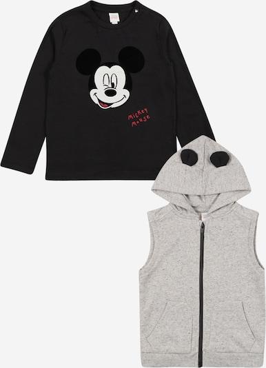 OVS Shirt + Weste 'MICHEY' in grau / schwarz, Produktansicht