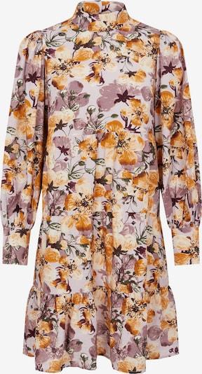 OBJECT Robe-chemise 'Ronja' en jaune d'or / olive / orchidée / baie / blanc, Vue avec produit