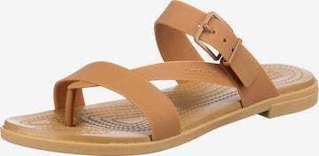 Crocs T-Bar Sandals 'Tulum' in Brown