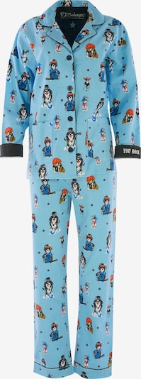 PJ Salvage Pyjama ' Cozy Casual ' in aqua, Produktansicht