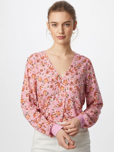 Part Two Blouse 'Pax' in beige / caramel / light pink / orange red: Frontal view