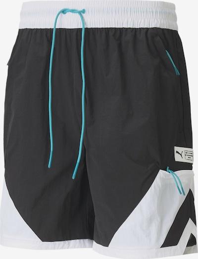 PUMA Pantalon de sport en aqua / noir / blanc, Vue avec produit