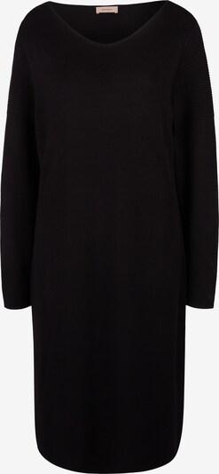 TRIANGLE Kleid mit Strickmuster in schwarz, Produktansicht