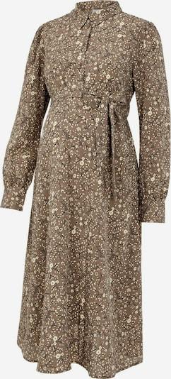 MAMALICIOUS Robe-chemise en beige / brocart / noir, Vue avec produit