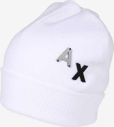 Megzta kepurė iš ARMANI EXCHANGE , spalva - natūrali balta, Prekių apžvalga