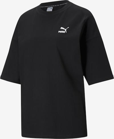 PUMA T-shirt en noir / blanc, Vue avec produit
