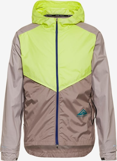 NIKE Sports jacket in Brown / Lime, Item view