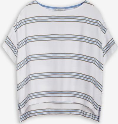 Sandwich T-Shirt in blau / braun / weiß, Produktansicht