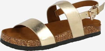 Sandale cu baretă ONLY pe auriu, Vizualizare produs